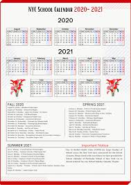 nyc holidays calendar 2020 2021