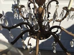 2 of 12 vintage large ornate antique 8 light french chandelier 24 dia w glass crystals