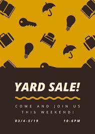 Customize 345 Yard Sale Flyer Templates Online Canva