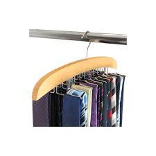 hangerworld wooden tie hanger tie organiser rack 3
