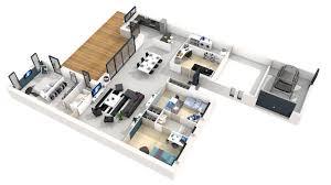 Plans Maison Plain Pied 3d