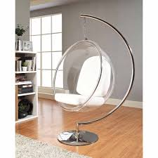 modway ring lounge acrylic chair with steel rim multiple colors com