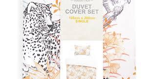 white leopard print single duvet cover