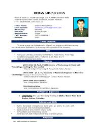sample resume format professional template doc word cover letter gallery of resume formats