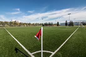 grass soccer field. The Fields Are Located Beside Indoor Soccer Complex With (East Field) Accommodating Both Football And While Second Field (West Is Grass