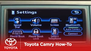 2007 - 2009 Camry How-To: Bluetooth® Phone Pairing - Navigation ...