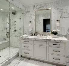 Image White Carrara Bianco Carrara Marble Decorpad Bianco Carrara Marble Transitional Bathroom
