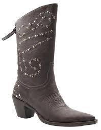 roper brown rockstar faux leather women s cowboy boots booties