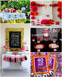 At 40 Party Decorations 40th Birthday Party Ideas For Husband 50