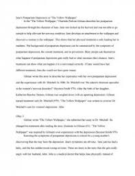 jane s postpartum depression in the yellow research paper zoom