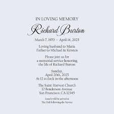 memorial service invitation in loving memory memorial service invitation funeral