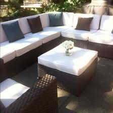 outdoor sectional costco. Costco Patio Furniture For Your Home Ideas Outdoor Rattan Sectional Sofa With White Cushion And