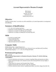 Account Representative Resumes Yun56 Co Cover Letter Bartender