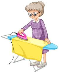 ironing clothes clipart. Simple Clothes Old Woman Ironing Clothes On Board Stock Vector  42921561 Inside Ironing Clothes Clipart