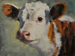 new arrived hand painted high quality animal cow portrait oil painting on canvas hand painted cow head oil painting decoration in painting calligraphy