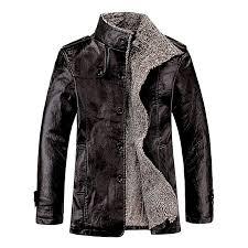 fashion leadsmart stand collar flocking single ted pu leather jacket