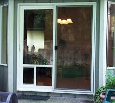 dog doors at sliding glass patio for proof screen