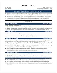 Hr Resume Template Formidable Human Resource Resume Sample On Hr Generalist Objective 21