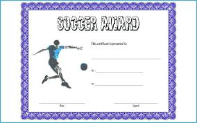 Sports Award Certificate Template Word Soccer Printable