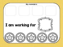 Token Reward System Chart Be A Star A Token Economy Chart And Behavior Management System