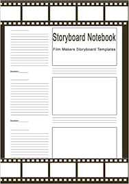 Notebook Templates Storyboard Notebook Film Makers Storyboard Templates 120