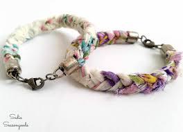anthro inspired vintage handkerchief bracelets