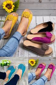 <b>Women Elegant Flower</b> Slip On Sandals | Street style <b>women</b> shoes ...