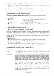 Business Analyst Resume Format 2 Business Analyst Cv Format Resume
