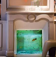 How about putting a fish tank into that fireplace you never use.