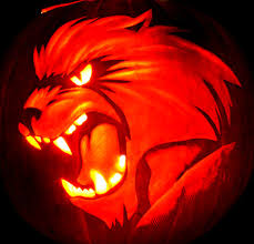 Werewolf Cool Pumpkin Carving Ideas. Credit   Werewolf_Cool_Pumpkin_Carving_Ideas