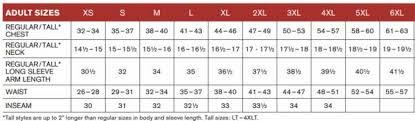 Sport Tek Size Chart Sport Tek Shirts