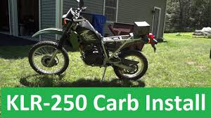 keihin cvk carburetor install kawasaki klr 250 keihin cvk carburetor install kawasaki klr 250