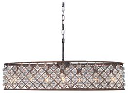 cassiel 30 inch oval crystal chandelier oil rubbed bronze