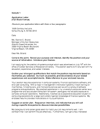 5 Full Block Style Example A Cover Letters