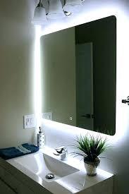 bathroom mirror with lighting. Bath Mirror With Lights Bathroom Lighting A