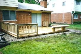 Backyard Deck Designs Plans Simple Design Inspiration