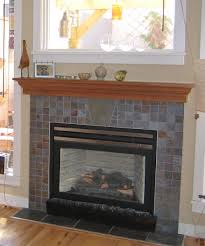 slate tile fireplace surround for elegant a fireplace