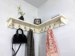 24 Inch Coat Rack 100 Spoon Hooks Coat Rack with 100 inch Corner Shelf in Any Color 33