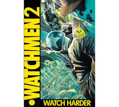 """comicsalliance imagines the worst comic book sequels possible watchmen 2 watch harder twenty years after the events of the original """" watchmen """" the """"new frontiersman"""" has moved its offices to"""