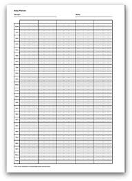 Daily Planner Printout Selection Of Printable Daily Planner Formats