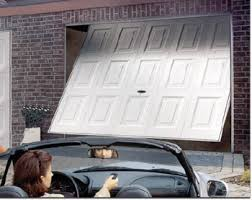 older garage doors were made of one piece of wood metal or fibergl these one piece doors swing open and closed when you pull them open they swing out