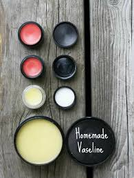 homemade vaseline and tinted lip balm recipe from recipe blog through