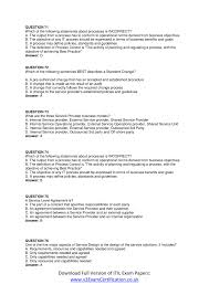 itil v certification foundation exam papers part pdf docdroid