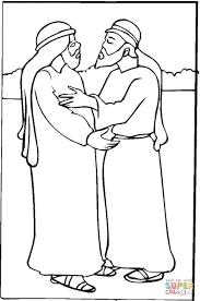 Jakob En Esau Kleurplaat Gratis Kleurplaten Printen