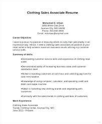 Sales Associate Career Objective Kordurmoorddinerco Fascinating Resume For Sales Associate