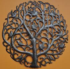 tree of life metal wall art hand made symbolic sculpture loading zoom on tree of life metal wall art sculptures with tree of life swirl branches haiti metal art art from recycled
