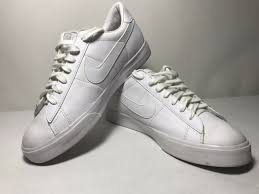 nike men s sweet classic leather white walking athletic shoe 318333 114 size 10 for