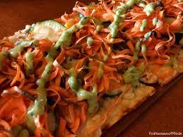 inspiralized flatbread at houlihans spiralized sweet potatoes zucchini