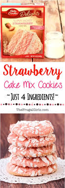 Strawberry Cake Mix Cookie Recipe The Frugal