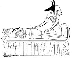 Small Picture Ancient Egypt Coloring Pages Anubis with a mummy EGYPTIAN